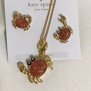 Kate Spade Crab Shore Thing Necklace & Earrings